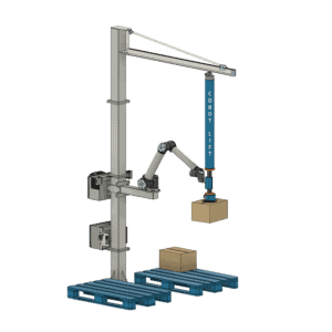 Stationary Cobot Lift 2 with pallets v2