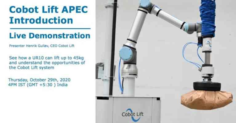 Cobot Lift APEC Live demonstration