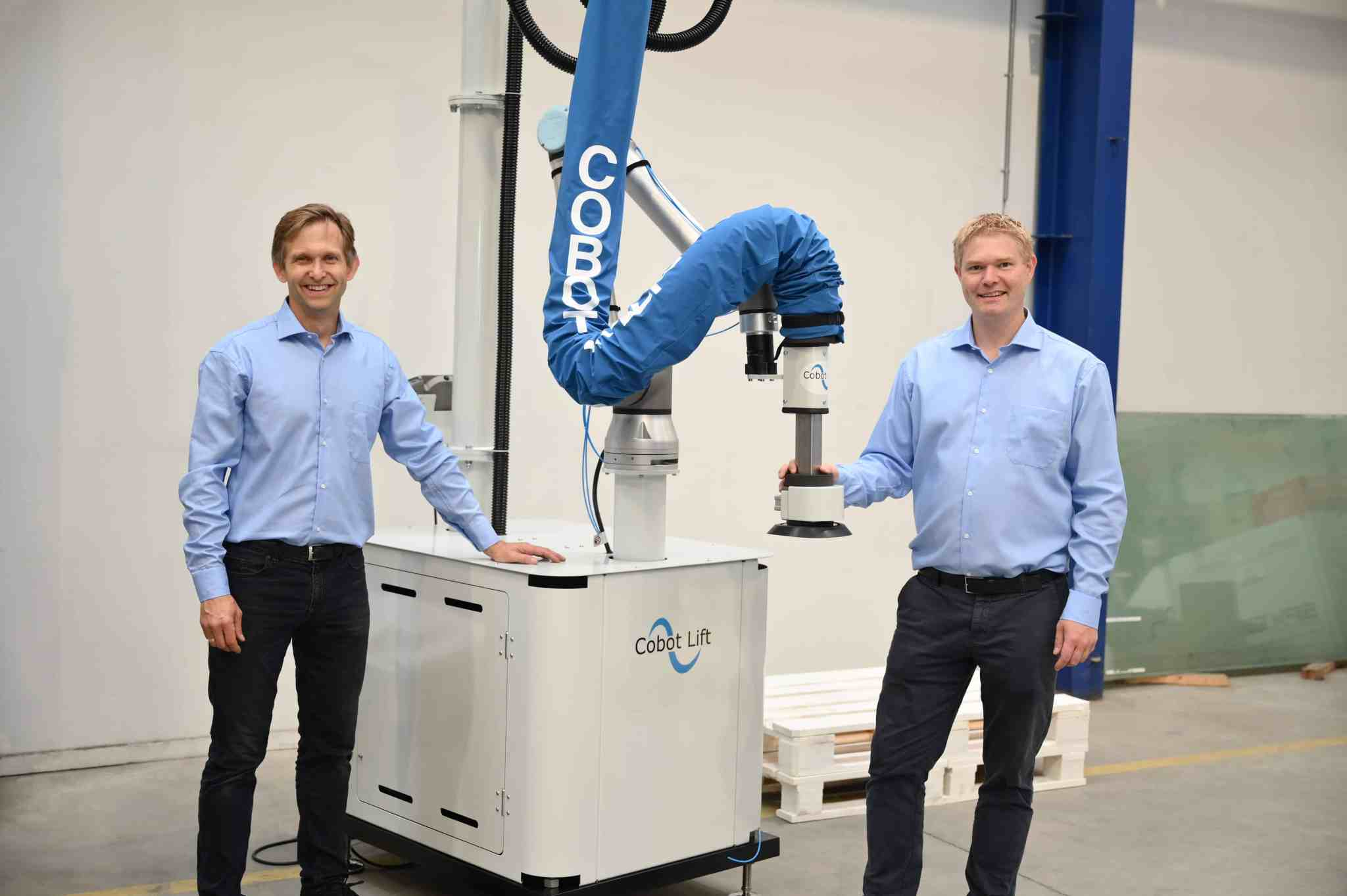 the CEO and CTO newt to the mobile cobot lift